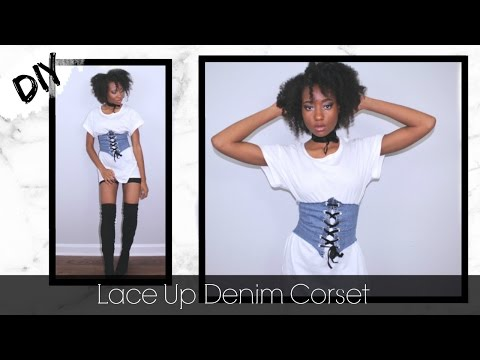 DIY Lace Up Denim Corset (Kylie Jenner Inspired)