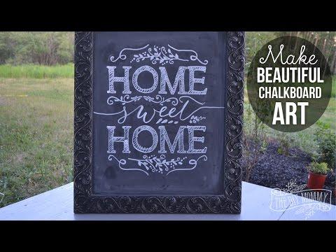 How To Make Beautiful Chalkboard Art