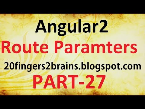 Angular2 - Passing and reading parameter to route