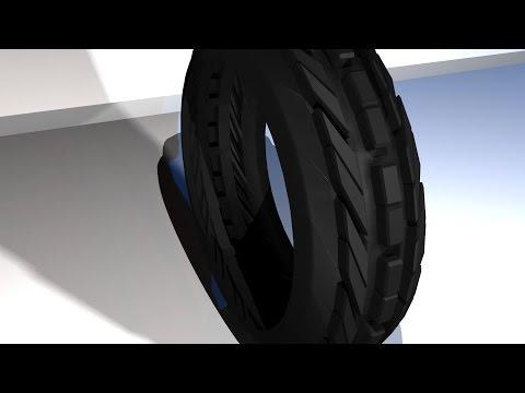 Maya 2014 tutorial : How to model a treaded tire
