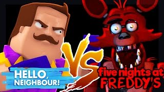 Minecraft - HELLO NEIGHBOUR VS FOXY (Five Nights at Freddy