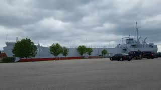 Muskegon's USS LST 393 gives Master's Salute to COVID-19 front-line responders