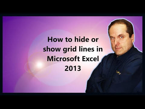 How to hide or show grid lines in Microsoft Excel 2013