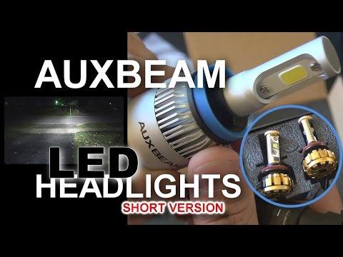 AuxBeam LED Headlight Install & LED GIVEAWAY: SHORT VERSION