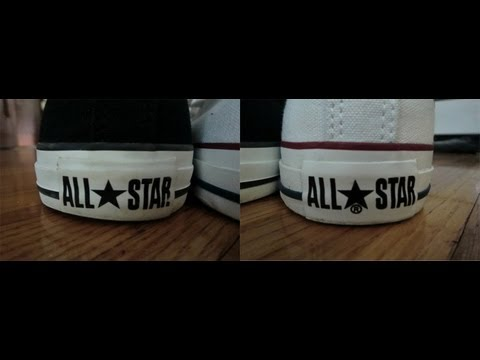 Video Comparison: Converse w/ the Registered Trademark (®) - Are They Fake?