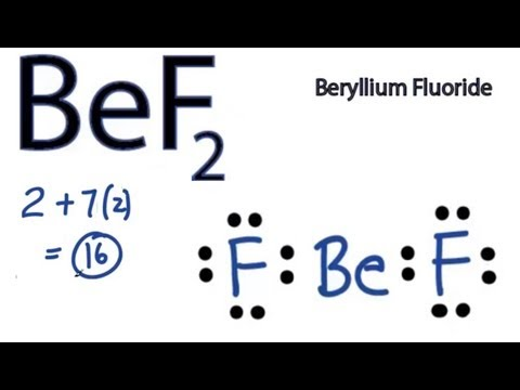 BeF2 Lewis Structure - How to Draw the Lewis Structure for BeF2