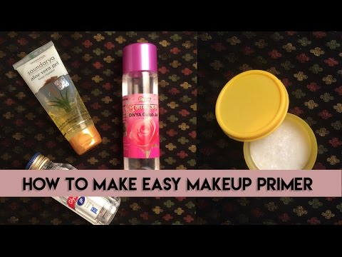HOW TO MAKE EASY MAKEUP PRIMER | DIY | SIMPLE INGREDIENTS | INEXPENSIVE