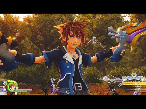 KINGDOM HEARTS 3 - 15 Minutes of Gameplay Demo (PS4 XBOX ONE) Kingdom Hearts III Gameplay Trailers