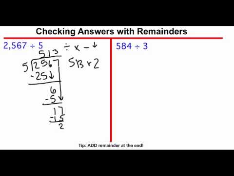 Long Division- Checking Your Answer
