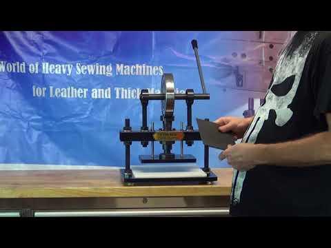 Troqueladora de cuero manual