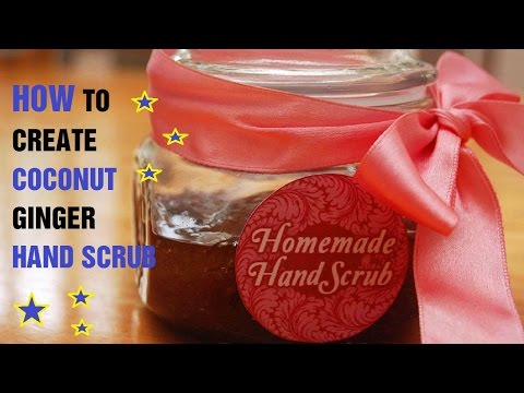 How to Create Coconut Ginger Hand Scrub