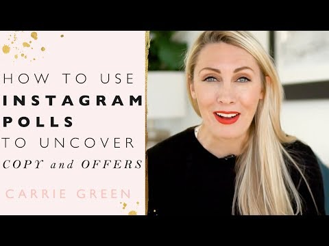 How To Use Instagram Polls To Uncover Powerful Ideas, Copy and Offers!