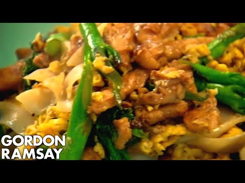 Egg-Fried Rice Noodles with Chicken - Gordon Ramsay