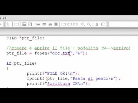 Linguaggio C -  Scrivere su file di testo