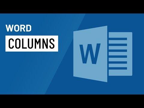 Word 2016: Columns