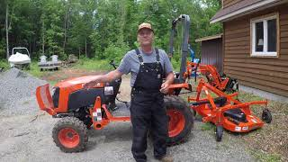 51 Kubota B2601 Compact Tractor FDR1660 Finish Mower or Bush