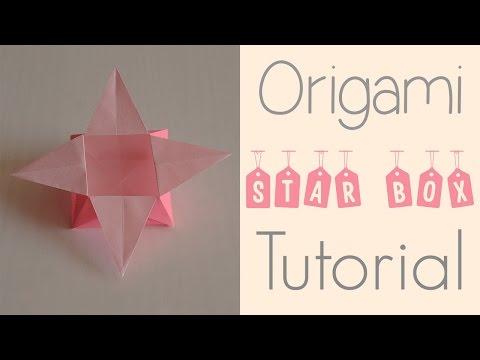 Origami Square Star Box Tutorial
