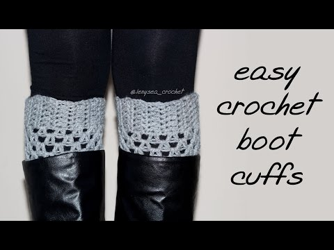 How To Crochet for Beginners | Boot Cuffs