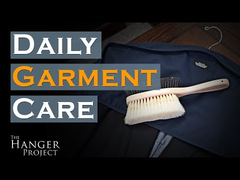 Daily Garment Care: How to Use a Garment Brush   Double-Sided Brush