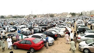 Used Cars Sunday Bazar in Karachi Pakistan
