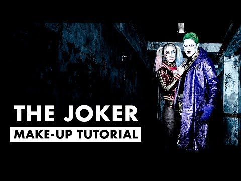 The Joker Tutorial - Jared Leto Suicide Squad - Halloween Hair and Make-up for men