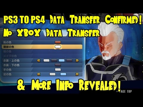 (JAPAN ONLY?) Xenoverse 2   PlayStation ONLY Data Transfer, PS3 to PS4 Transfer Confirmed, & MORE!