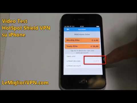 [Video test] VPN HotSpot Shield iOS iPhone | LeMiglioriVPN.com