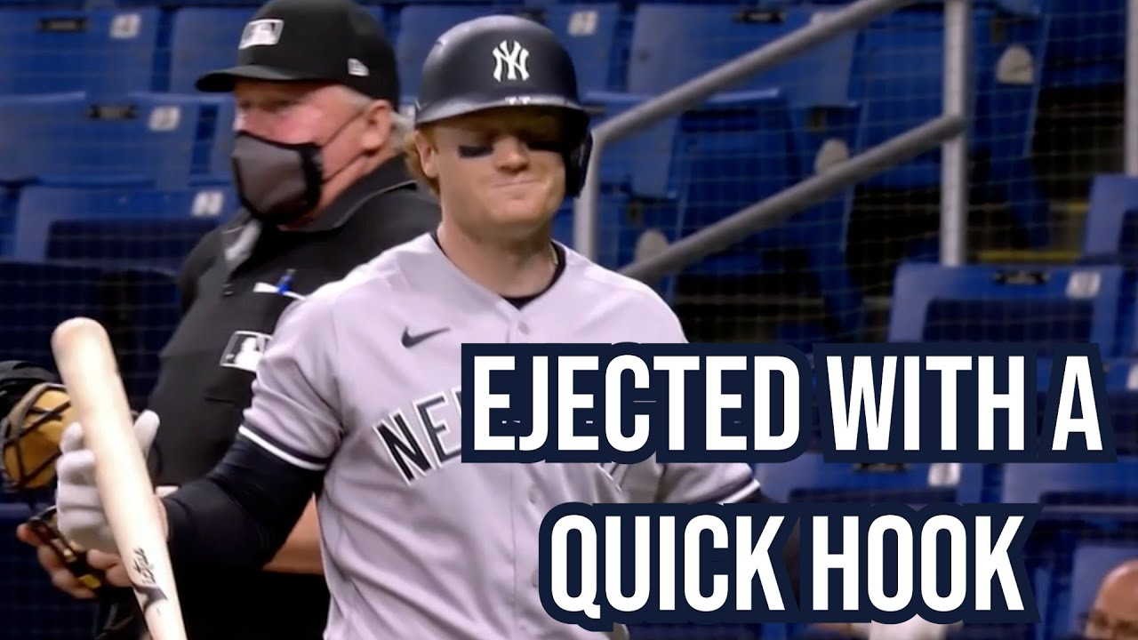 Umpire ejects Clint Frazier with a quick hook, a breakdown