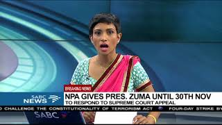 BREAKING NEWS: NPA gives Zuma deadline to respond to SCA appeal