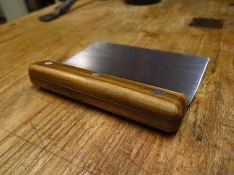 Custom cutting board scraper build video
