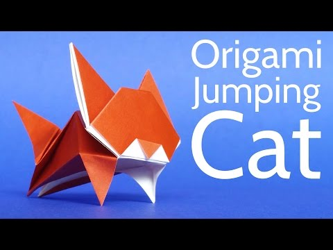 How to Make a Cute Origami Cat 🐱 Tutorial (Stéphane Gigandet)