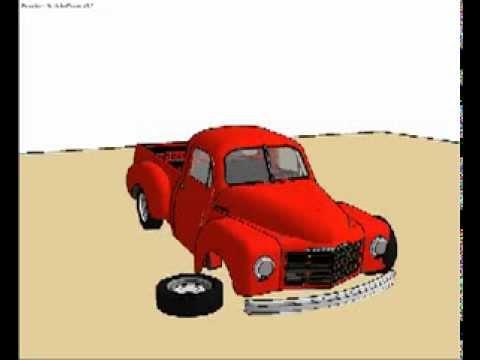 Sketchy Physics - My Results using my 1949 Studebaker Sketchup Model