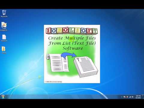 How To Use Create Multiple Files From List (Text File) Software