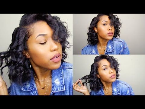 Wand Curls on Short Hair | Sapphire Curling Wand (Irresistible Me)