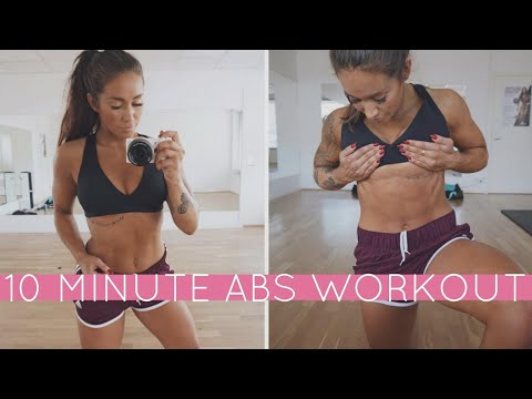 10 MINUTE ABS WORKOUT - GET A SIX PACK W. HOME WORKOUT