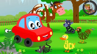 Animals Sound Song   Car Rhymes   Kids Video