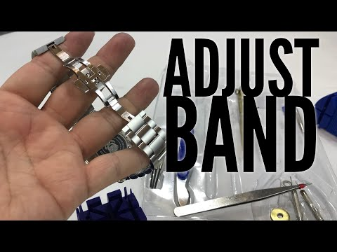 How to remove watch band links with a 16-piece Deluxe Watch Repair Tool Kit