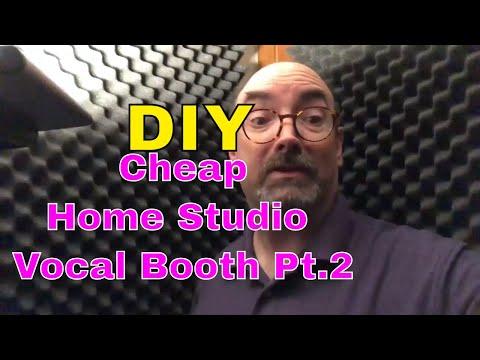 DIY Cheap Home Studio Vocal Booth Pt. 2