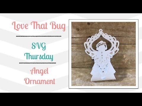 Cricut Explore | SVG | Angel Ornament