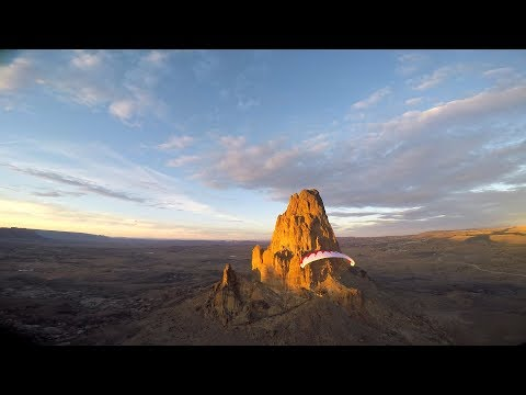 Incredible Paramotor Monument Valley Exploration!! Powered Paragliding With SUPERS!!!
