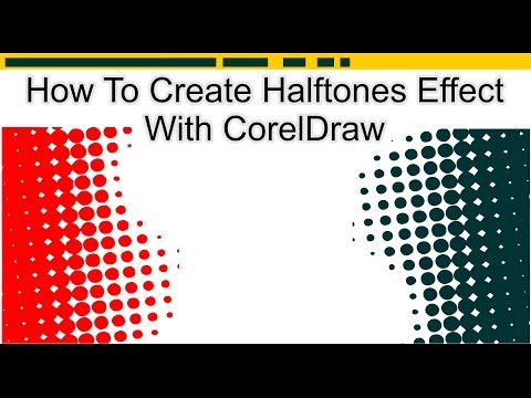 How To Create Halftones Effect With CorelDraw [ Cara Membuat Effect Halftone ]