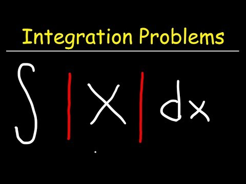 Integral of absolute value of x or abs(x)