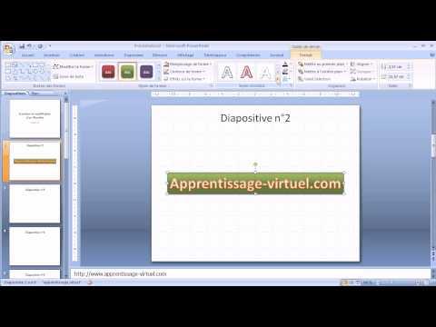 [Vidéo Powerpoint] Insérer un Wordart