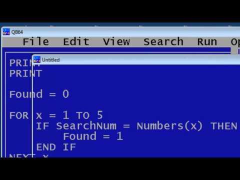 QBasic Tutorial 20 - Boolean Techniques - QB64 - PakVim net