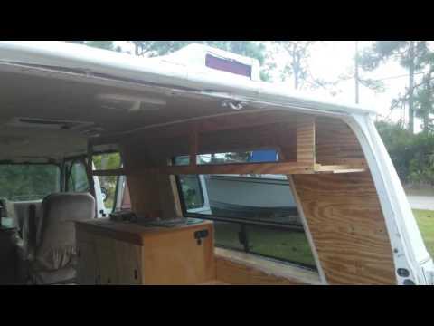 Campervan Build 5 - Kitchen Vanity & Custom Overhead Cabinet Storage - #vanlife