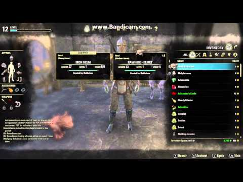 The Elder Scrolls Online - How to get Helmets and Pauldrons at Level 1