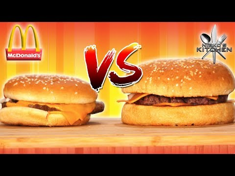 McDONALDS QUARTER POUNDER with CHEESE vs HOMEMADE - Why does it look so different?!!
