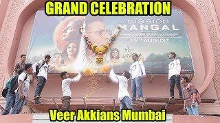 Mission Mangal Grand Celebration By Akshay Kumar Crazy Fans #VeerAkkians