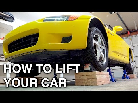 How To Completely Lift A Car On All Four Jack Stands