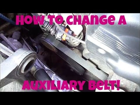 How to change an auxiliary belt!